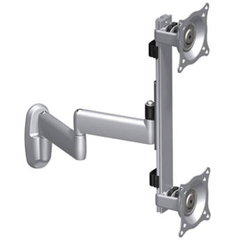 Chief KWD-230S Dual Vertical Monitor Swing Arm Wall Mount (Silver)