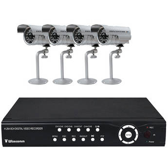 Clover Electronics 8-Channel H.264 DVR Bundle System with 4 Night Vision Color Cameras