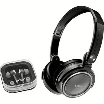 Coby CV215 Jammerz On-Ear and In-Ear Headphone Set (Silver)