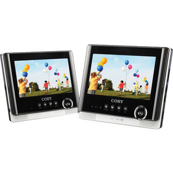"""Coby TFDVD7752 7"""" Dual Screen Portable Tablet DVD Player"""