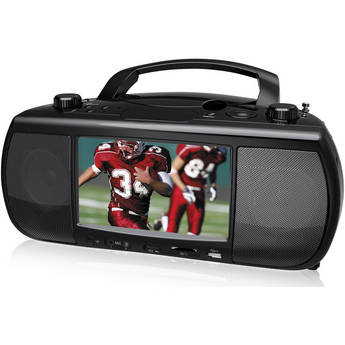 "Coby TFDVD777 7"" Portable Digital TV + DVD/CD Mini System"