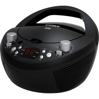 Coby CXCD251 Portable CD Player with AM/FM Stereo Tuner (Black)