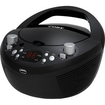 Coby MPCD291 Portable MP3/CD Stereo With AM/FM Radio With USB Port