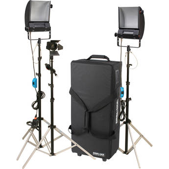 Cool-Lux Hollywood Combo Studio Interview Kit With Carrying Case