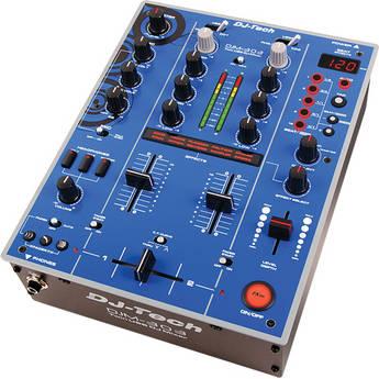 DJ-Tech DJM-303 Twin USB DJ Mixer (Blue)