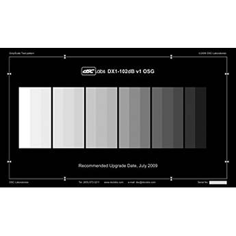 DSC Labs DX-1 102-Db 18 Step Grayscale Test Chart