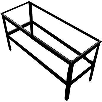 """Delta 1 96x28x36"""" Heavy Duty Steel Stand for 96x28x7"""""""