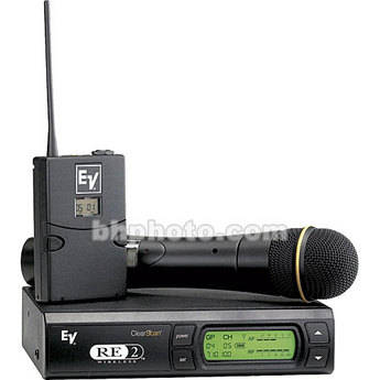 Electro-Voice RE-2 UHF Wireless Combo Microphone System (Band A - 648 - 676MHz)
