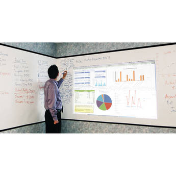 "Elite Screens Insta-DE Series 105"" (16:9) Dry Erase Whiteboard Screen"