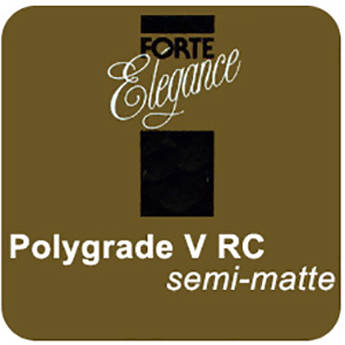 """Forte Polygrade V Black & White Variable Contrast RC (Resin Coated) Medium Weight Semi-Matte Paper 16x20""""-10 Sheets"""