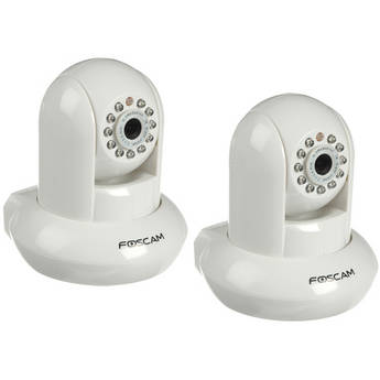 Foscam Wireless IP Camera With IR Lens Kit (2-Pack, White)