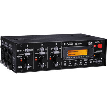 Fostex DC-R302 3-Channel Audio Mixer and Stereo Recorder