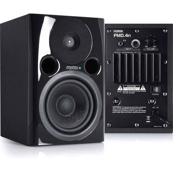 "Fostex PM0.4n 36W 4"" Active Nearfield Studio Monitor Speaker (Pair, Black)"