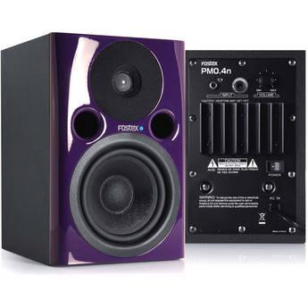 "Fostex PM0.4n 36W 4"" Active Nearfield Studio Monitor Speaker (Pair, Violet)"