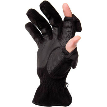 Freehands Ladies Unlined Fleece Gloves (Small, Black)