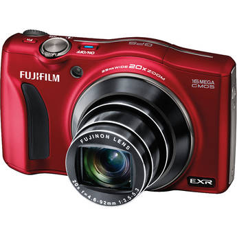 Fujifilm FinePix F770EXR Digital Camera (Red)