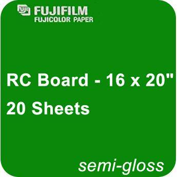 "Fujifilm Semi Gloss RC Board - 16 x 20"" - 20 Sheets"