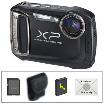 Fujifilm FinePix XP100 Digital Camera (Black) with Deluxe Accessory Kit