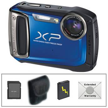 Fujifilm FinePix XP100 Digital Camera (Blue) with Deluxe Accessory Kit