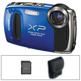 Fujifilm FinePix XP50 Digital Camera (Blue) with Basic Accessory Kit