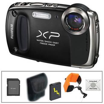 Fujifilm FinePix XP50 Digital Camera with Deluxe Accessory Kit (Black)