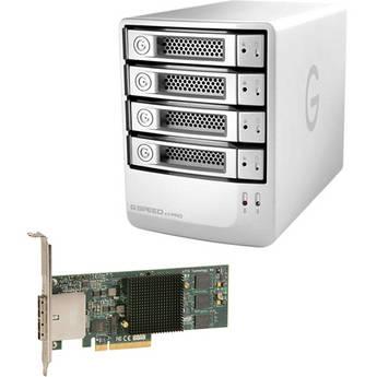 G-Technology 8TB G-SPEED eS PRO 4-Bay RAID Array Kit w/ 4x 2TB Drives & PCIe RAID Adapter