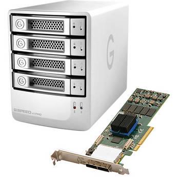G-Technology 16TB G-Speed eS Pro 4-Bay RAID Array Kit w/ PCIe RAID Adapter