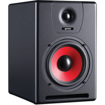 "Gemini SR-6 90W 6.5"" 2-Way Active Studio Monitor Speaker"
