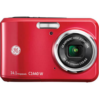 General Electric C1440W Digital Camera (Red)