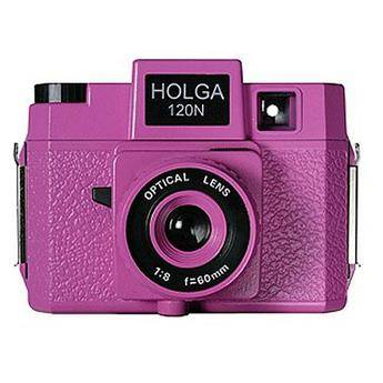 Holga 178-120  Holgawood 120N Medium Format Camera (Pretty in Pink)