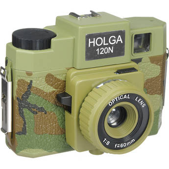 Holga 188-120  Holgawood 120N Medium Format Camera (Commando)