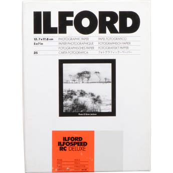 "Ilford ILFOSPEED RC DeLuxe Paper (44M Pearl, Grade 3, 5 x 7"", 25 Sheets)"