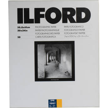 "Ilford Multigrade IV RC DeLuxe Paper (Satin, 20 x 24"", 50 Sheets)"