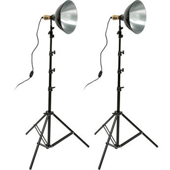 "Impact Tungsten 10"" Reflector Two-Floodlight Light Kit"