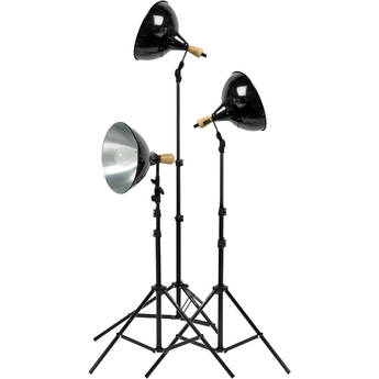Impact Tungsten Three-Floodlight Kit with 6' Stands