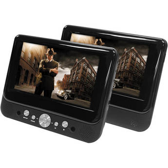 "Impecca DVP-DS720 7"" Dual Screen Portable DVD Player"