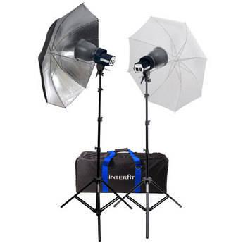 Interfit Stellar Tungsten Two-Light Umbrella Kit