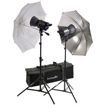 Interfit Stellar X 300 Flash Two Monolight Umbrella Kit (120VAC)