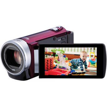 JVC GZ-E200 Full HD Everio Camcorder (Red)