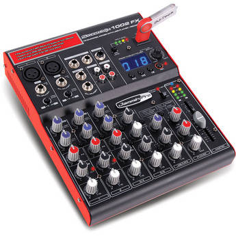 Jammin StudioMix 1002 FX 10-Channel Mixer with USB Player/Recorder