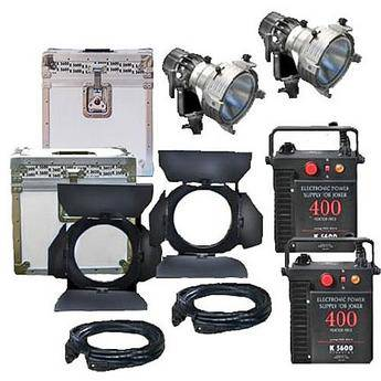 K 5600 Lighting Joker News 400W HMI Pair - 2 Light, 2 Case Kit