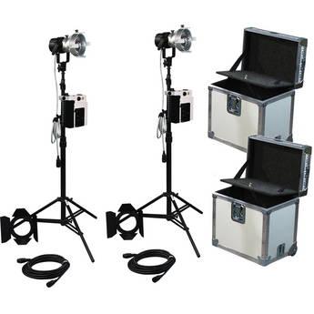 K 5600 Lighting Joker-Bug 200W HMI 2 Case News Pair Kit (90-250VAC / 14.4-30V DC)