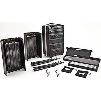 Kino Flo Diva-Lite 400 Universal Two Fluorescent Light Flight Case Kit (U.S. Plug)