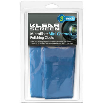 Klear Screen Travel Size Micro-Chamois, Model KS-3MINI- 3 Pack