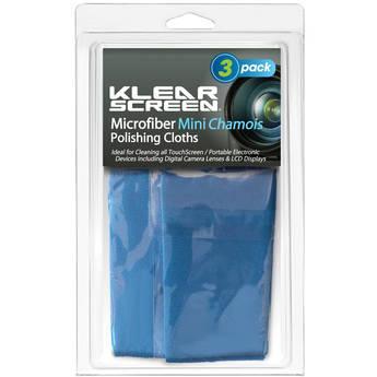 Klear Screen Travel Size Micro-Chamois, Model KS-3MINI- 3 Pack