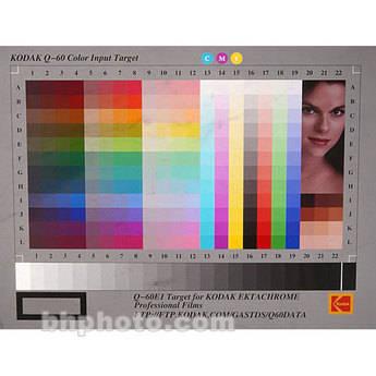"Kodak #Q-60E1 Target- 4x5"" Ektachrome Film"
