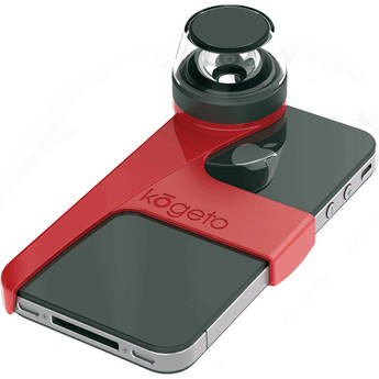 Kogeto Cheery Red Dot iCONIC iPhone 4 / 4S 360° Camera Lens
