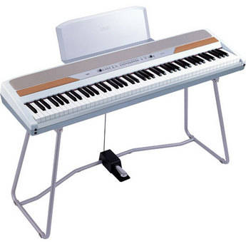 Korg SP-250WS - 88-Key Portable Digital Piano with Stand (White)