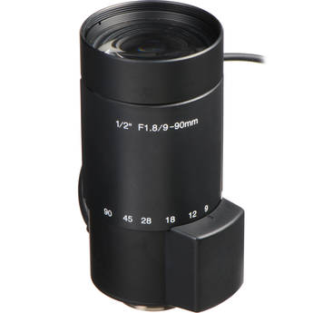 "Kowa LMVZ990A-IR 1/2"" f/1.8 Day/Night IR-Corrected Lens (9-90mm) for CCTV"