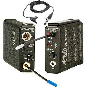 Lectrosonics 100 Series - Wireless UHF Lavalier Microphone System with M152 Lavalier
